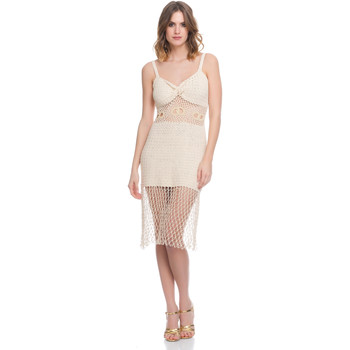 Vêtements Femme Robes Laura Moretti Robe LRCP8N1008 Femme Collection Printemps Eté Beige
