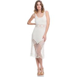 Vêtements Femme Robes Laura Moretti Robe LRCP8N1035 Femme Collection Printemps Eté Blanc