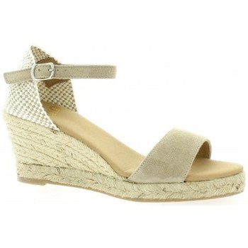 Pao Espadrille velours Taupe - Chaussures Espadrilles Femme