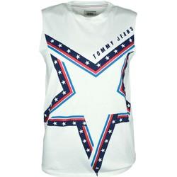 Vêtements Femme Débardeurs / T-shirts sans manche Tommy Jeans Débardeur col rond  blanc imprimé étoile pour femme Blanc