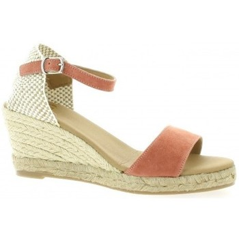 Chaussures Femme Espadrilles Pao Espadrille cuir velours Rouille