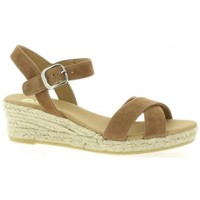 Chaussures Femme Espadrilles Pao Espadrille cuir velours Camel
