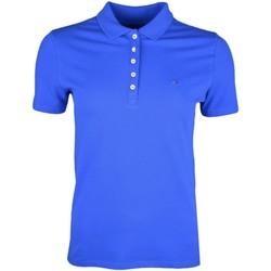 Vêtements Femme Polos manches courtes Tommy Jeans Polo 5 boutons  bleu royal pour femme Bleu