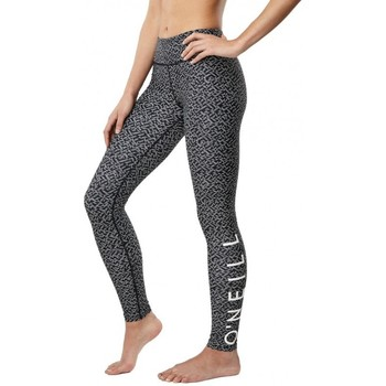 Vêtements Femme Pantalons O'neill Legging  Pw Sports Logo - Black Aop W/ White Noir