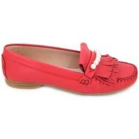 Chaussures Femme Derbies & Richelieu Sabrinas 89001 Mocasines de Mujer Rouge