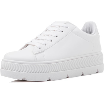 Chaussures Femme Baskets basses Spylovebuy DEVIL TO PAY Femmes Lacet Plates Baskets basses Sneakers - Blan Blanc