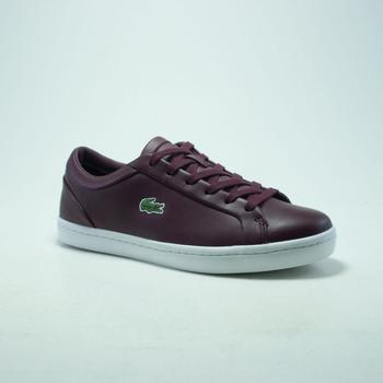 Chaussures Homme Baskets mode Lacoste STRAIGHTSET LACE  BORDEAUX rouge