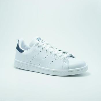 Chaussures Homme Baskets mode adidas Originals STAN SMITH BLANC/BLEU Marron