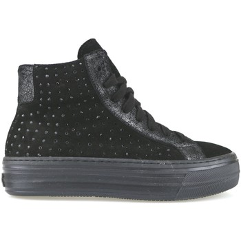 Crown Marque Sneakers Noir Daim Strass...