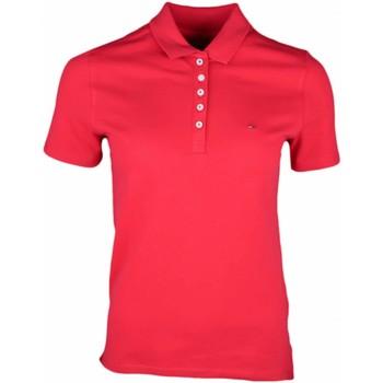 Vêtements Femme Polos manches courtes Tommy Jeans Polo 5 boutons  rouge pour femme Rouge