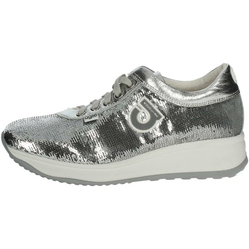 Agile By Ruco Line Agile By Rucoline  1315 Petite Sneakers Femme Argent Argent - Chaussures Baskets basses Femme