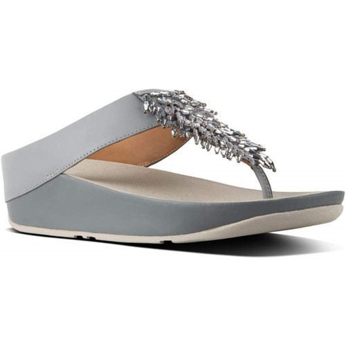 Fitflop Femme fitflop sandales grises Gris - Chaussures Tongs Femme