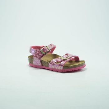 Chaussures Homme Sandales et Nu-pieds Birkenstock Kids BIRK RIO SHINY SNAKE/ROSE rose