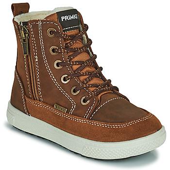 Chaussures Garçon Boots Primigi PCA 24130 Marron