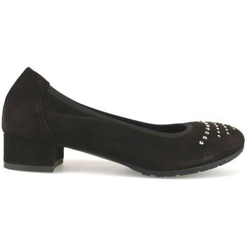 Chaussures Femme Ballerines / babies Calpierre escarpins brun foncé daim swarovski AJ377 marron