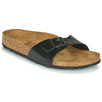 Chaussures Femme Mules Birkenstock MADRID Noir Verni