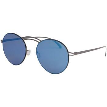 Montres & Bijoux Lunettes de soleil Eye Wear Lunettes de soleil miroir bleu en aluminium Saky Bleu