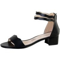 Chaussures Femme Sandales et Nu-pieds The Divine Factory Sandale Talon Noir