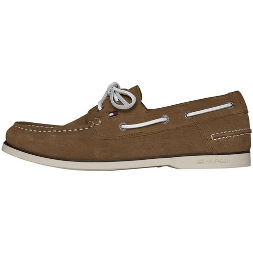 Tommy Hilfiger BOATSHOE Beige - Chaussures Chaussures bateau Homme