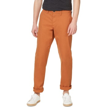 Vêtements Homme Chinos / Carrots Monoprix Pantalon chino coupe straight Homme curcuma