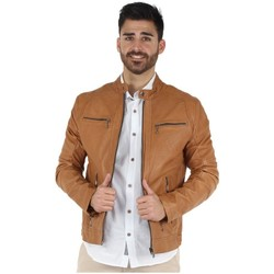 Vêtements Blousons Daytona Blouson  Emmerson Castel en cuir ref_day426 Marron