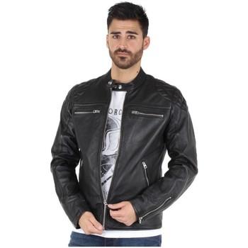 Vêtements Blousons Schott Blouson  en cuir ref_jaj42942-noir Noir