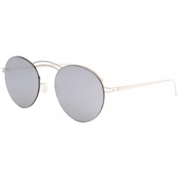 Montres & Bijoux Lunettes de soleil Eye Wear Lunettes de soleil miroir argent en aluminium Saky Gris