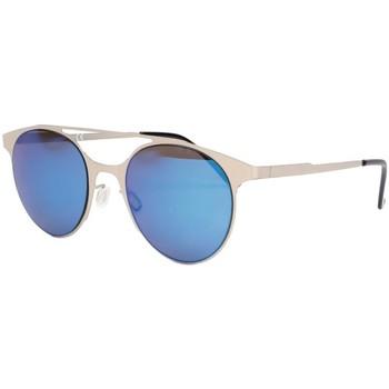 Montres & Bijoux Lunettes de soleil Eye Wear Lunettes de soleil miroir bleu en aluminium Aury Bleu
