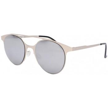 Montres & Bijoux Lunettes de soleil Eye Wear Lunettes de soleil miroir gris en aluminium Aury Gris