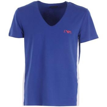 Vêtements Homme T-shirts & Polos Emporio Armani EA7 Tee-shirt  V-Neck - Ref. 110853-7P510-40535 Bleu