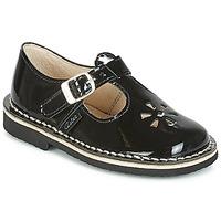 Chaussures Fille Ballerines / babies Aster DINGO Noir Vernis