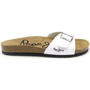 Chaussures Homme Mules Pepe jeans MULES BIO BLANC