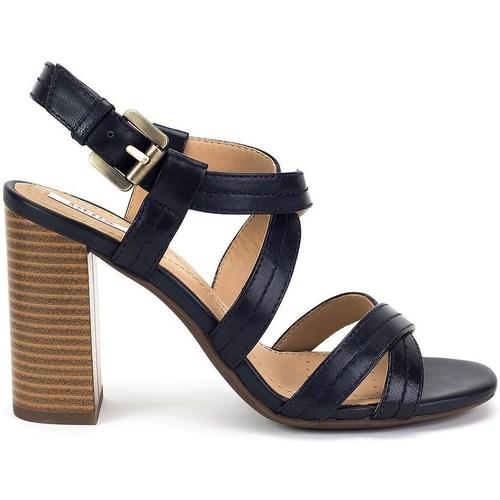 Geox D AUDALIES HIGH SAND Noir - Chaussures Sandale Femme