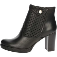 Chaussures Femme Low boots Genus Millennium P500/FR Bottines Avec Talons Femme Noir Noir