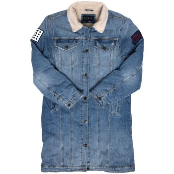 Vêtements Homme Vestes en jean Unique SHERPA LONGUE Bleu