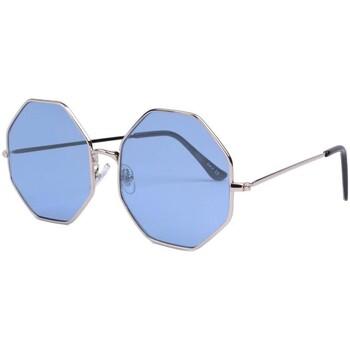 Montres & Bijoux Lunettes de soleil Eye Wear Lunettes de soleil octogonales bleues Fashion Octy Bleu