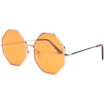 Montres & Bijoux Lunettes de soleil Eye Wear Lunettes de soleil octogonales jaunes Fashion Octy Jaune