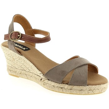 Chaussures Femme Espadrilles Emma 1955 Taupe