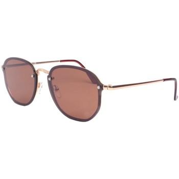 Montres & Bijoux Lunettes de soleil Eye Wear Lunettes de soleil marron et dorée tendance Lucky Marron