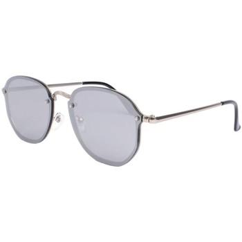 Montres & Bijoux Lunettes de soleil Eye Wear Lunettes de soleil miroir argent tendance Lucky Gris