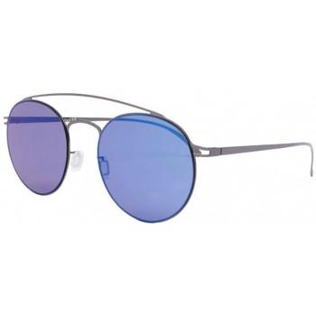 Montres & Bijoux Lunettes de soleil Eye Wear Lunettes de soleil miroir Bleu aluminium Catel Bleu