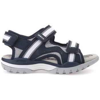 Chaussures Enfant Sandales et Nu-pieds Geox J Borealis Boy Navygrey Noir