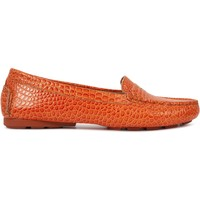Chaussures Femme Mocassins Heyraud Driver EDWINA Orange