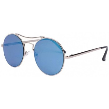 Montres & Bijoux Lunettes de soleil Eye Wear Lunettes de soleil miroir rondes bleues Need Bleu
