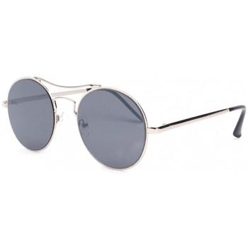 Montres & Bijoux Lunettes de soleil Eye Wear Lunettes de soleil rondes grises Fashion Need Gris