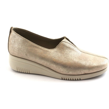 Chaussures Femme Mocassins Grunland SIRA SC3762 platine or rose chaussures femme élastique biais Oro