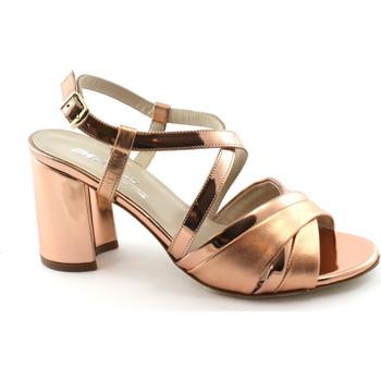 Chaussures Femme Sandales et Nu-pieds Melluso S529 saumon rose chaussures femme cuir talon sandales sangle Rosa