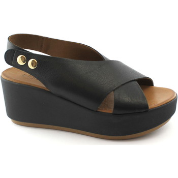 Chaussures Femme Sandales et Nu-pieds Inuovo 8697 noir sandales noires femme plateforme plate-forme croisant Nero