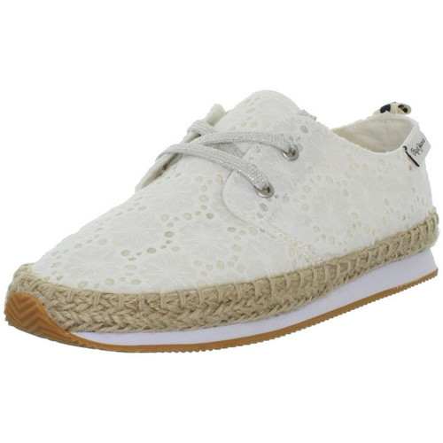 Pepe jeans Baskets  ref_pep43364-800 blanc Blanc - Chaussures Baskets basses