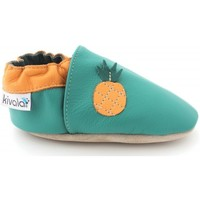 Chaussures Chaussons Kivala Chaussons cuir souple Ananas vert
